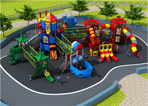 Outdoor playground equipment kids plastic slide playsets