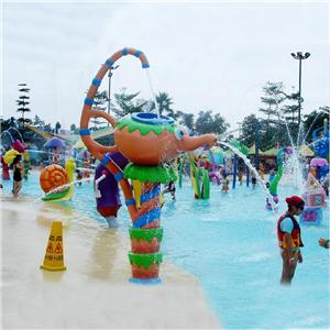 Aqua park water game with teapot spray for children
