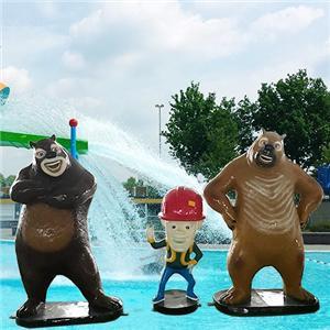 Funny aqua spray Bears for entertainment water part
