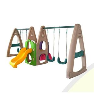 Indoor playground equipment plastic slide with swing for kids
