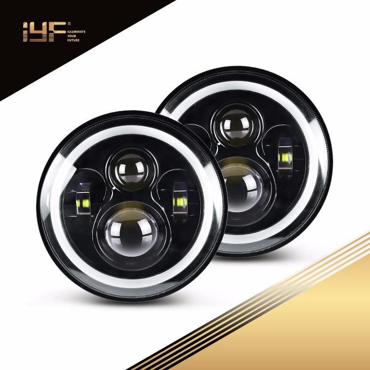 Phare à LED de 7 pouces pour UAZ Hunter / Suzuki Jimmy / Jeep Wrangler JL