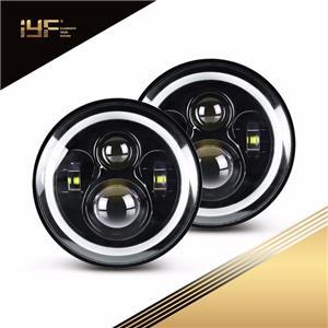 Phare à LED de 7 pouces pour UAZ Hunter / Suzuki Jimmy / Jeep Wrangler JL