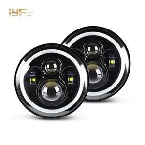 مصباح يؤدى للسيارة 7 بوصة RGB عالي الطاقة