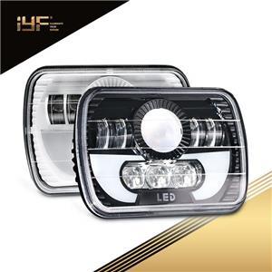 Faros LED con luces de circulación diurna Faros delanteros rectangulares de haz sellada