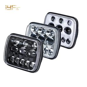 Linterna frontal LED de 5X7 pulgadas para Wrangler YJ Cherokee XJ Trucks Offroad Cars
