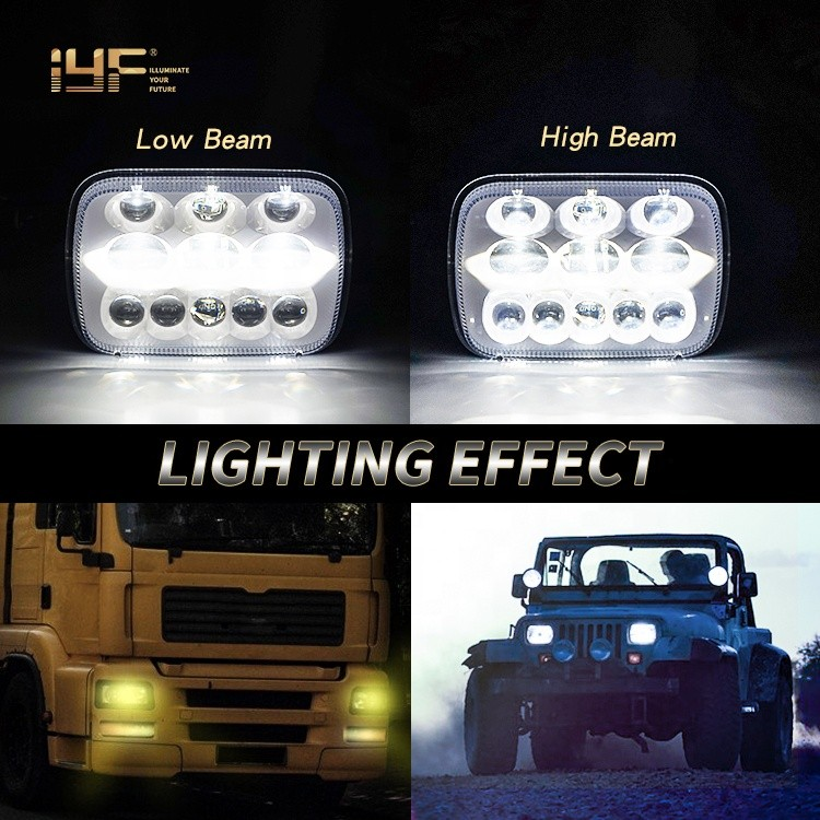 Jeep Headlight 5x7 LED Headlight Black Bezel For Jeep Cherokee Xj Yj Manufacturers, Jeep Headlight 5x7 LED Headlight Black Bezel For Jeep Cherokee Xj Yj Factory, Supply Jeep Headlight 5x7 LED Headlight Black Bezel For Jeep Cherokee Xj Yj