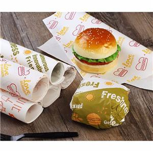 Custom Food Grade Sandwich Hamburger Wrapping Packaging