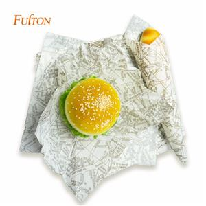 Deli Burger Food Gift Wax Wrap Sandwich Paper With Logo