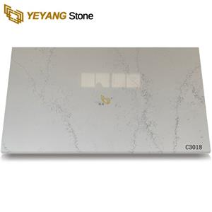 Polished Calacatta Quartz Machining Kitchen Stone Wholesale
