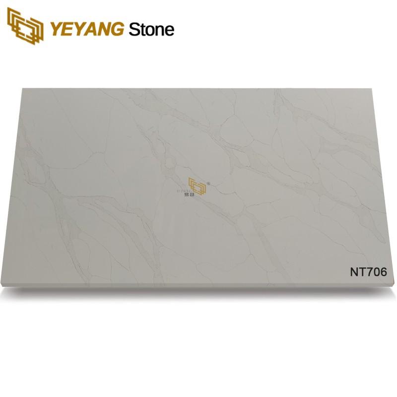 Calacatta Gold Quartz Design For Kitchen Countertop