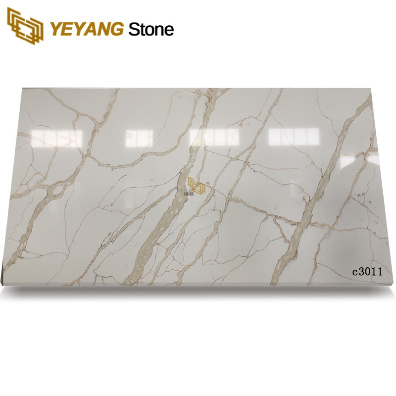 Big Slab Calacatta Gold Quartz Slabs At Good Price