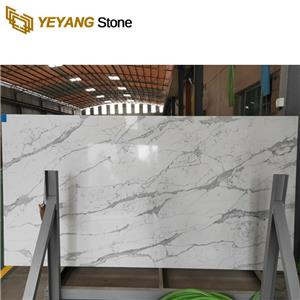 Calacatta Quartz Stone Slab For Bathroom Vanity Tops Design