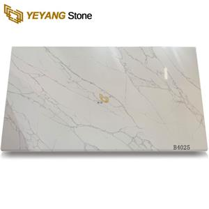 White Calacatta Quartz Slabs Export From China Manufacturers