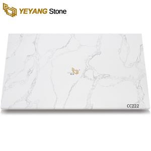 Polished Unique Calacatta Quartz Good Price For Engineering