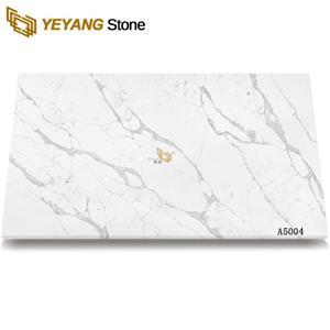 Hot Selling Custom Quartz Carrara White Veins Grey Quartz Stone For Countertop