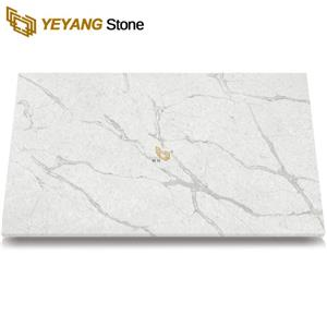 Hotel Project Faux Quartz Slab Tiles Kitchen Countertop White Benchtop Counter Top Faux Stone Table Tops