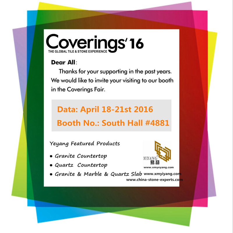 YEYANG Stone Fair Booth(South Hall NO.#4881) of Coverings 2016