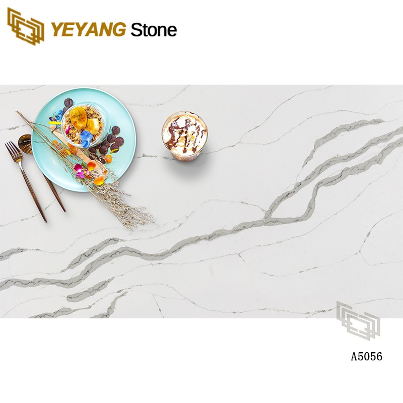 Natural Polished Quartz White Stone Countertop For Kitchen/Bathroom Top