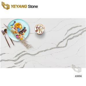 Natural Polished Quartz White Stone Countertop For Kitchen/Bathroom Top