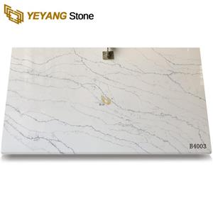 Polishing Surface Calacatta Select Good Quartz Slabs