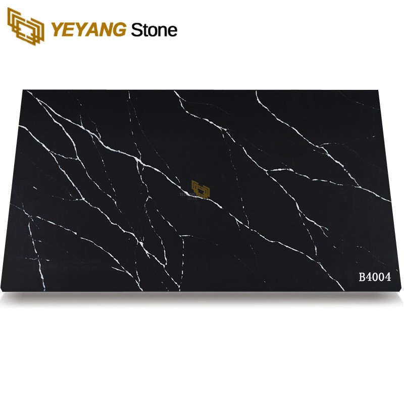 Affordable Black Quartz Countertop Slabs For Sale