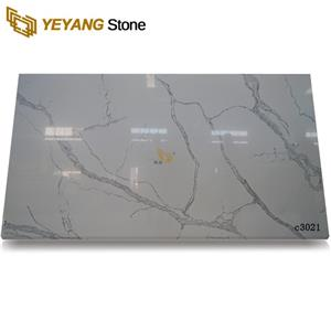 Unique Calacatta Quartz Tiles Quality Quartz Vanity Tops Table Slabs