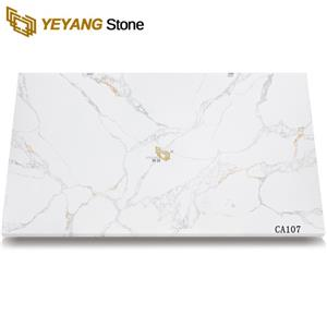 White Quartz Stone Slab For Countertop And Flooring Tile Project