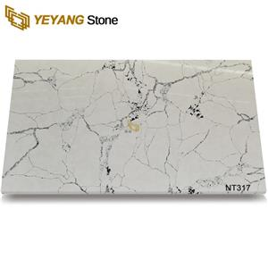 Wholesale Price Artificial Big Particles Engineered Quartz Slab
