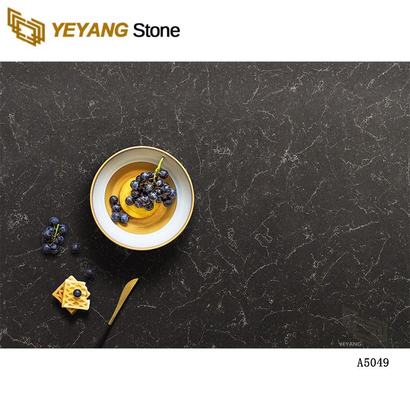 Calacatta Black Artificial Quartz Stone Kitchen Quartz Countertops And Quartz Slabs