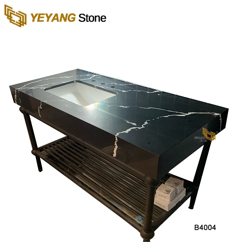 Brown Quartz Vanity Tops With Undermount Sink Wholesale Supplier