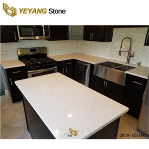 Kitchen Quartz Countertops Engineered Stone Table Tops -050D