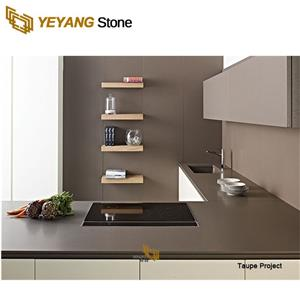 Engineered Stone Customized Artificial Quartz Stone For Backgound Wall