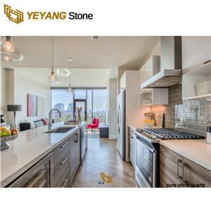 Artificial Engineered Calacatta White Quartz Stone Countertop & Vanity Top & Work Top Slab