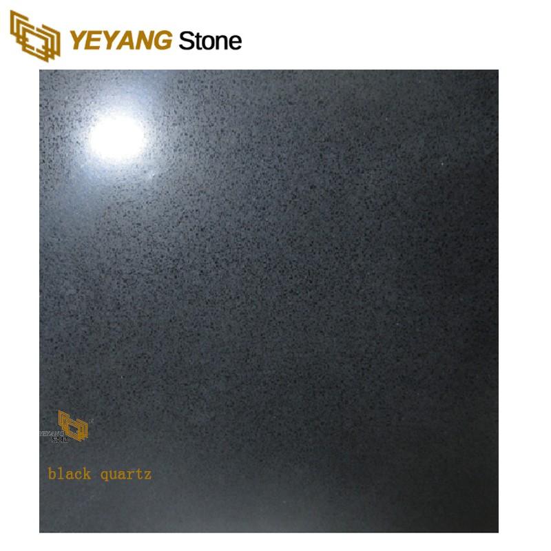 Black Quartz Artificial Quartz Stone Flooring Tile Wholesale