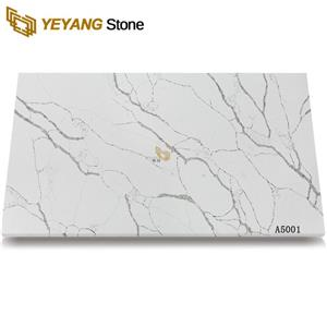 Man Made Quartz Stone Custom Pure White Tops Kitchen Bathroom Countertop