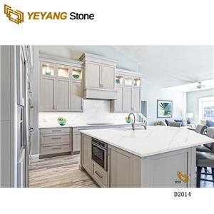 Polished Man Made White Quartz Worktop For Kitchen Countertop And Bathroom