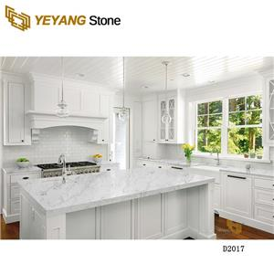 Artificial Stone White Quartz Counter Top For Kitchen