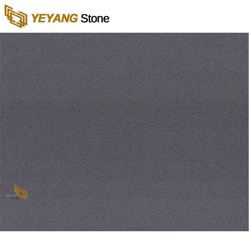 Crystal Grey Quartz Engineered Quartz Tiles For Flooring
