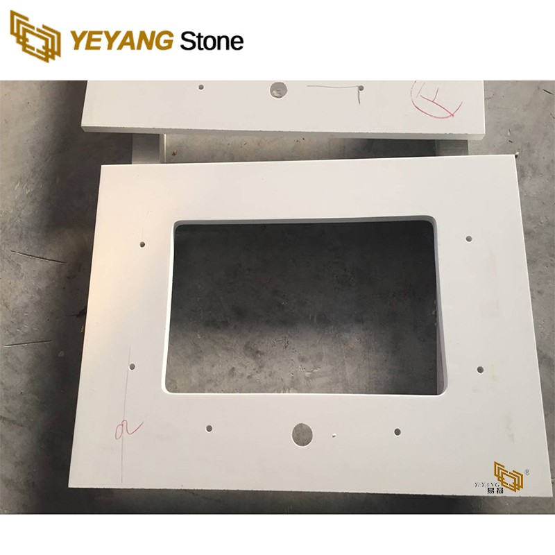 Small Inch Polished Vanity With Quartz Top For Hotel Project