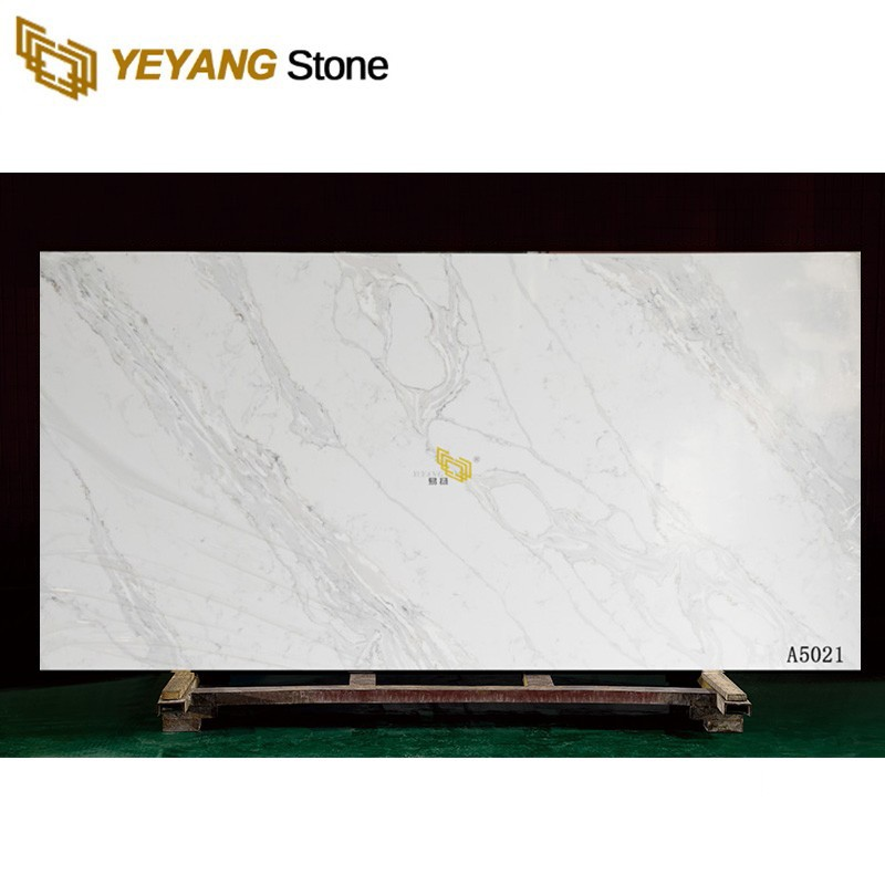 Crystal Grey Sparkle Quartz Stone Slab For Countertop And Tiles
