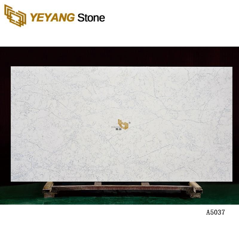 Artificial Quartz Stone Slab Supplier White Stone A5037