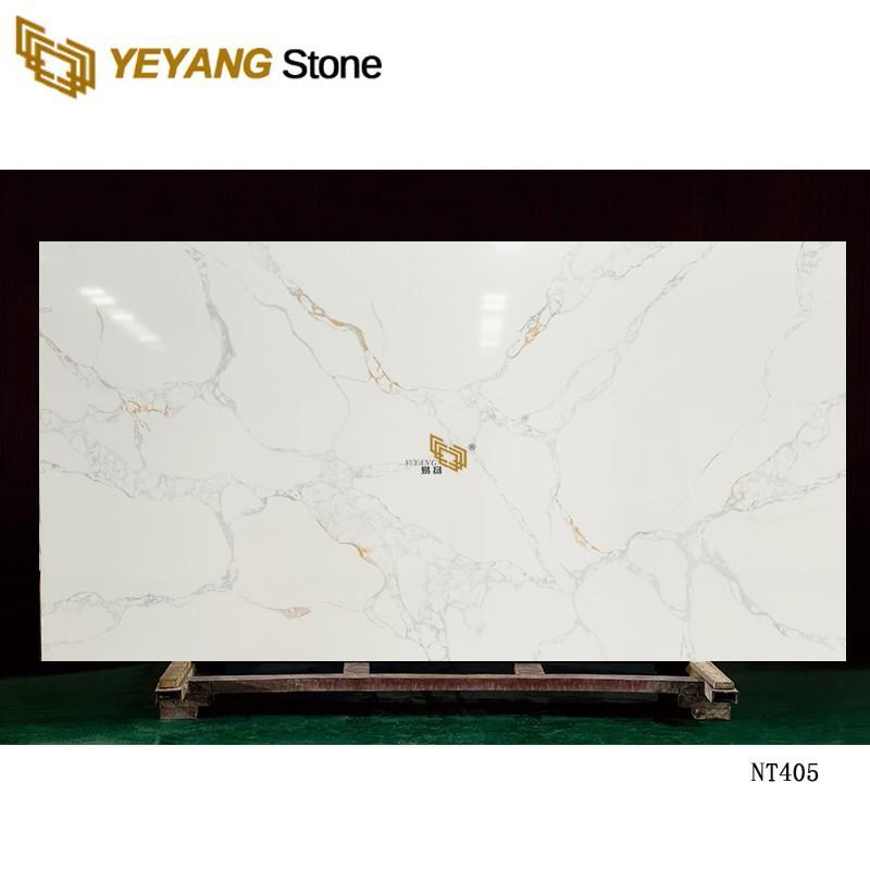 600x600 Artificial Sparkle White Quartz Stone Tile For Stair/Floor NT405