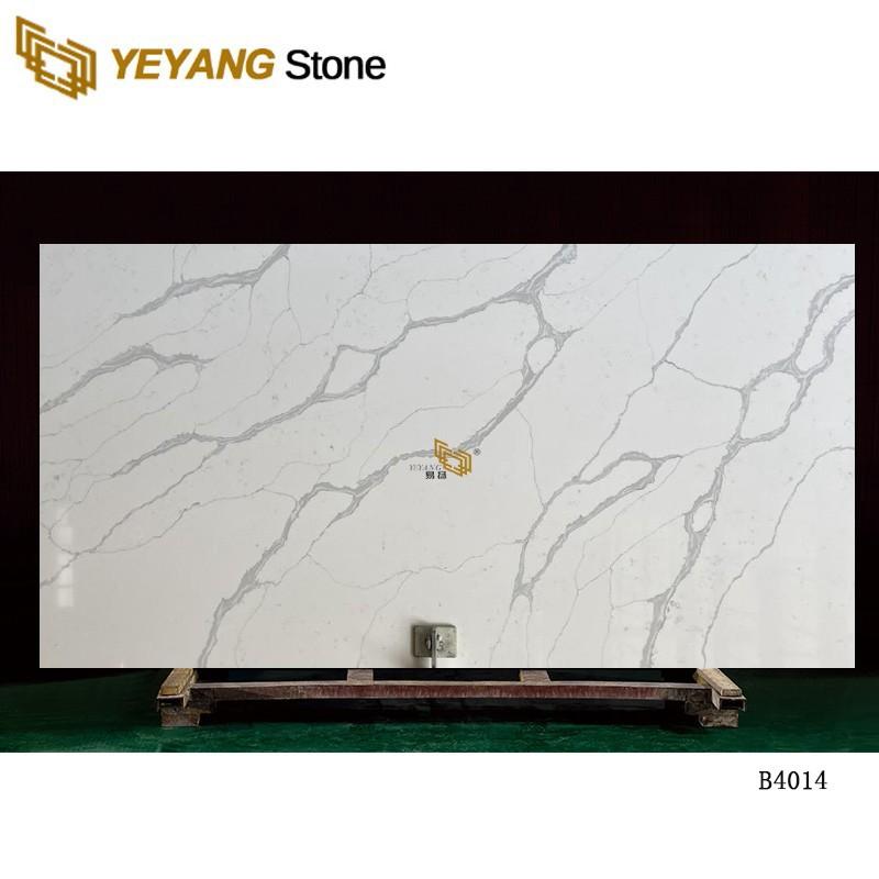 Calacatta Pure Grey Artificial Quartz Stone Kitchen Quartz Countertops And Quartz Slabs B4014