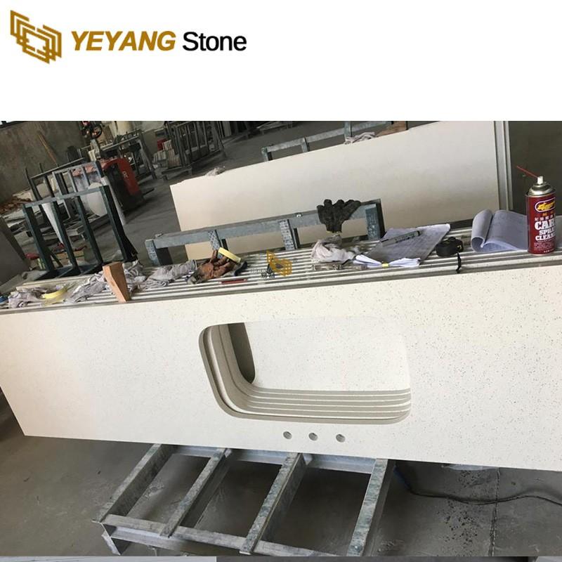High Brightness Quartz Vanity Tops Countertops Engineered Quartz Kitchen Worktops