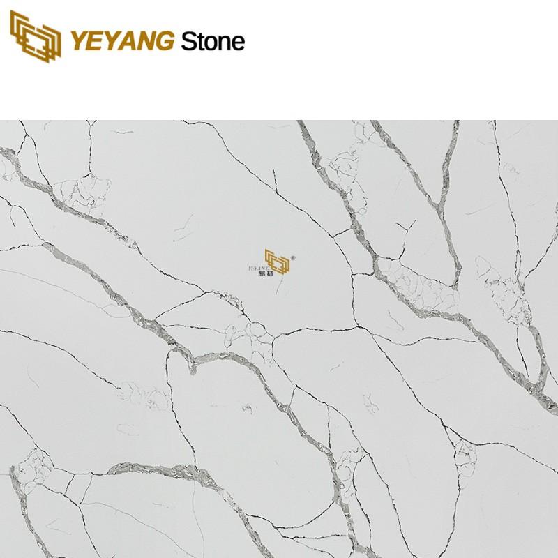 Popular White Quartz Wall Tiles Manufactured Quartz Kitchen Countertops
