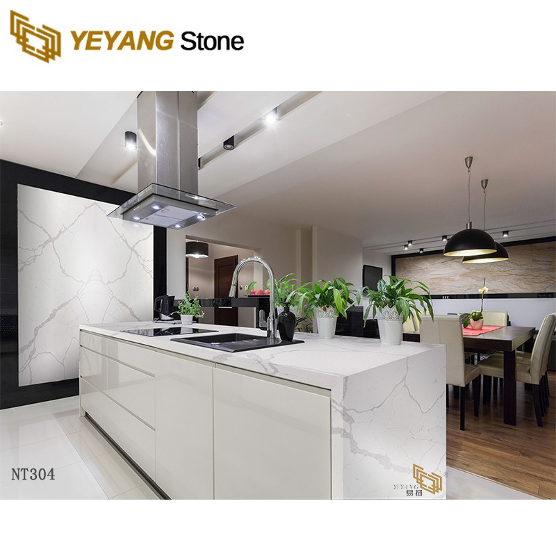 High Quality White Sparkle Quartz Stone Countertop for Kitchen and Bathroom