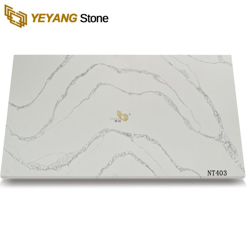 High quality cutting quartz countertops with backsplash nt403