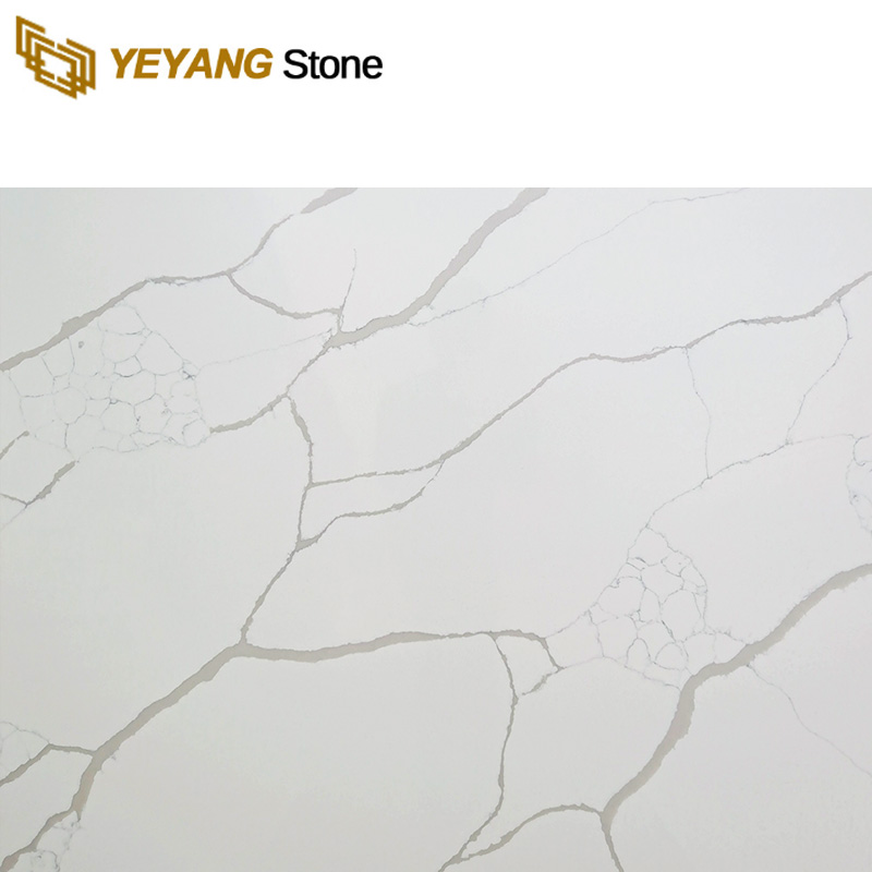 Calacatta Quartz Engineered Stone For Kitchen Countertop And Table Top F6001 Manufacturers, Calacatta Quartz Engineered Stone For Kitchen Countertop And Table Top F6001 Factory, Supply Calacatta Quartz Engineered Stone For Kitchen Countertop And Table Top F6001