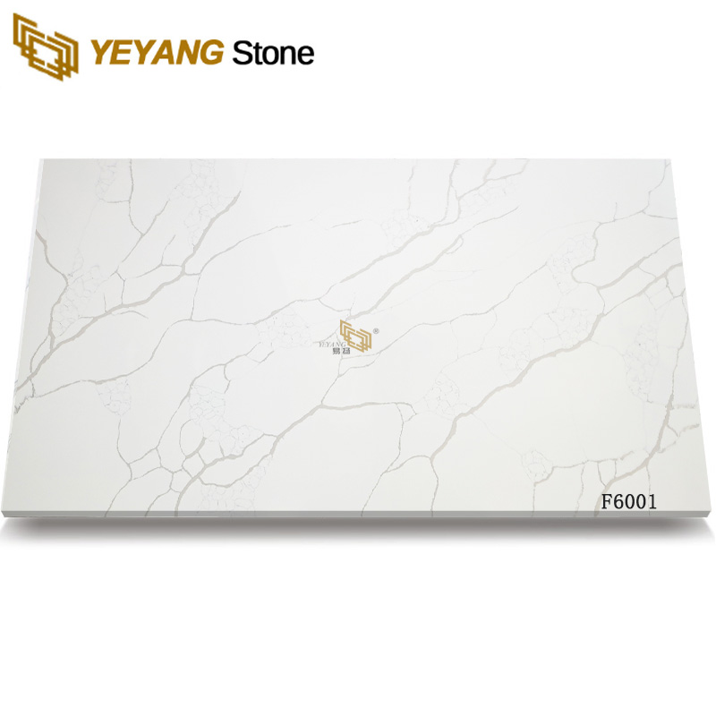 Calacatta Quartz Engineered Stone For Kitchen Countertop And Table Top F6001