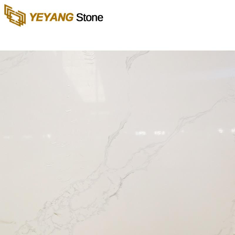 China Carrara White Artificial Engineered Calacatta Quartz Stone Slab - F6002 Manufacturers, China Carrara White Artificial Engineered Calacatta Quartz Stone Slab - F6002 Factory, Supply China Carrara White Artificial Engineered Calacatta Quartz Stone Slab - F6002